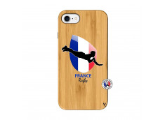 Coque iPhone 7/8 Coupe du Monde de Rugby-France Bois Bamboo