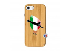 Coque iPhone 7/8 Coupe du Monde Rugby-Italy Bois Bamboo
