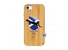 Coque iPhone 7/8 Coupe du Monde Rugby-Scotland Bois Bamboo
