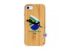 Coque iPhone 7/8 Coupe du Monde Rugby-South Africa Bois Bamboo
