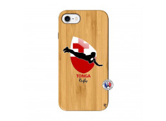 Coque iPhone 7/8 Coupe du Monde Rugby-Tonga Bois Bamboo