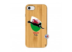 Coque iPhone 7/8 Coupe du Monde Rugby-Walles Bois Bamboo