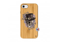 Coque iPhone 7/8 Dandy Skull Bois Bamboo