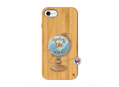 Coque iPhone 7/8 Globe Trotter Bois Bamboo