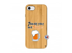 Coque iPhone 7/8 Jamais Sans Ma Rousse Bois Bamboo