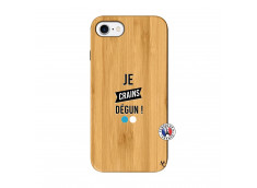 Coque iPhone 7/8 Je Crains Degun Bois Bamboo