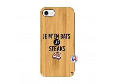 Coque iPhone 7/8 Je M En Bas Les Steaks Bois Bamboo
