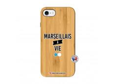 Coque iPhone 7/8/SE 2020 Marseillais à Vie Bois Bamboo