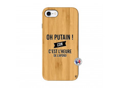 Coque iPhone 7/8 Oh Putain C Est L Heure De L Apero Bois Bamboo