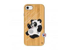 Coque iPhone 7/8 Panda Impact Bois Bamboo