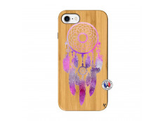 Coque iPhone 7/8 Purple Dreamcatcher Bois Bamboo