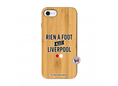 Coque iPhone 7/8/SE 2020 Rien A Foot Allez Liverpool Bois Bamboo