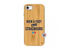 Coque iPhone 7/8 Rien A Foot Allez Strabourg Bois Bamboo