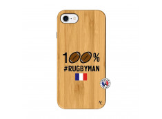 Coque iPhone 7/8 100% Rugbyman Bois Bamboo