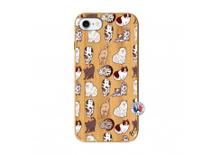 Coque iPhone 7/8/se 2020 Cat Pattern Bois Bamboo