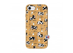 Coque iPhone 7/8/se 2020 Cow Pattern Bois Bamboo