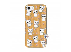 Coque iPhone 7/8/se 2020 Petits Chats Bois Bamboo