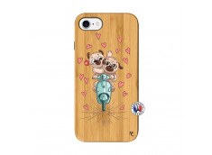 Coque iPhone 7/8/se 2020 Puppies Love Bois Bamboo