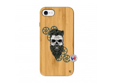 Coque iPhone 7/8 Skull Hipster Bois Bamboo