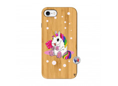 Coque iPhone 7/8 Sweet Baby Licorne Bois Bamboo