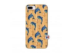 Coque Bois iPhone 7Plus/8Plus Dauphins