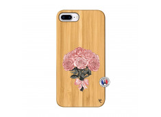 Coque iPhone 7Plus/8Plus Bouquet de Roses Bois Bamboo