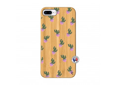 Coque iPhone 7Plus/8Plus Cactus Pattern Bois Bamboo