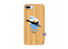 Coque iPhone 7Plus/8Plus Coupe du Monde Rugby-Argentine Bois Bamboo