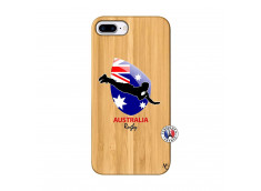 Coque iPhone 7Plus/8Plus Coupe du Monde Rugby-Australia Bois Bamboo