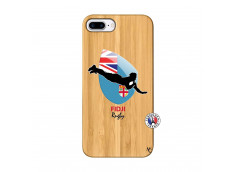 Coque iPhone 7Plus/8Plus Coupe du Monde Rugby Fidji Bois Bamboo