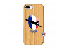 Coque iPhone 7Plus/8Plus Coupe du Monde de Rugby-France Bois Bamboo