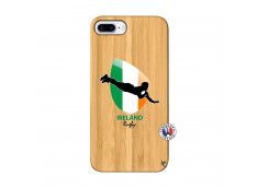 Coque iPhone 7Plus/8Plus Coupe du Monde Rugby-Ireland Bois Bamboo