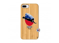Coque iPhone 7Plus/8Plus Coupe du Monde Rugby-Samoa Bois Bamboo