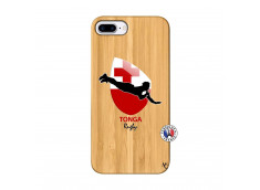 Coque iPhone 7Plus/8Plus Coupe du Monde Rugby-Tonga Bois Bamboo