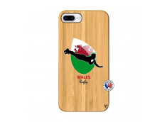 Coque iPhone 7Plus/8Plus Coupe du Monde Rugby-Walles Bois Bamboo