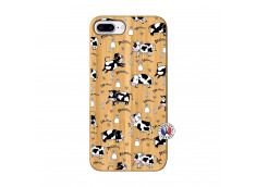 Coque iPhone 7Plus/8Plus Cow Pattern Bois Bamboo