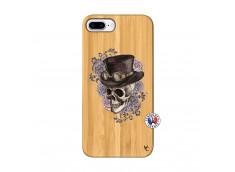 Coque iPhone 7Plus/8Plus Dandy Skull Bois Bamboo