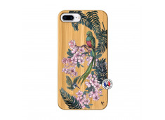 Coque iPhone 7Plus/8Plus Flower Birds Bois Bamboo