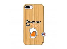 Coque iPhone 7Plus/8Plus Jamais Sans Ma Rousse Bois Bamboo
