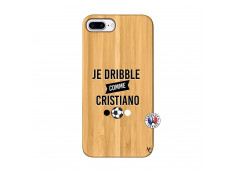Coque iPhone 7Plus/8Plus Je Dribble Comme Cristiano Bois Bamboo