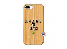 Coque iPhone 7Plus/8Plus Je M En Bas Les Olives Bois Bamboo