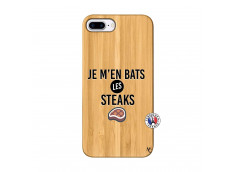 Coque iPhone 7Plus/8Plus Je M En Bas Les Steaks Bois Bamboo
