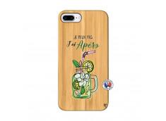 Coque iPhone 7Plus/8Plus Je peux pas J'ai Apéro Bois Bamboo