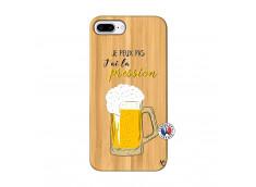 Coque iPhone 7Plus/8Plus Je peux pas J'ai la Pression Bois Bamboo