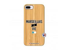 Coque iPhone 7Plus/8Plus Marseillais à Vie Bois Bamboo