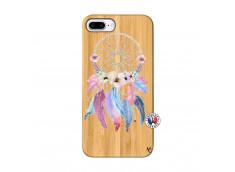 Coque iPhone 7Plus/8Plus Multicolor Watercolor Floral Dreamcatcher Bois Bamboo