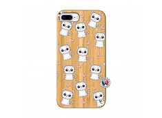 Coque iPhone 7Plus/8Plus Petits Chats Bois Bamboo