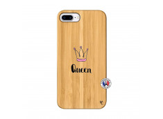 Coque iPhone 7Plus/8Plus Queen Bois Bamboo