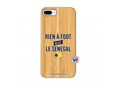 Coque iPhone 7Plus/8Plus Rien A Foot Allez Le Senegal Bois Bamboo