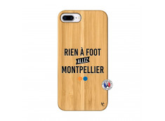 Coque iPhone 7Plus/8Plus Rien A Foot Allez Montpellier Bois Bamboo